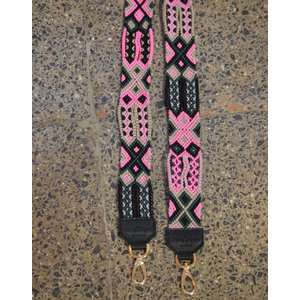 Woven Strap Pink/Green