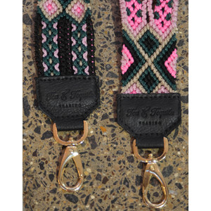 Tea & Tequila Woven Strap Pink/Green