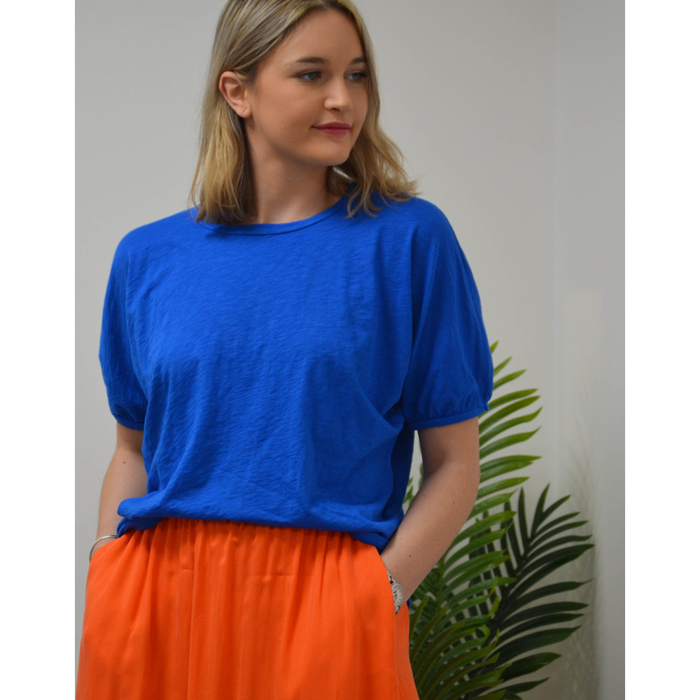 Velvet Louise Short Balloon Sleeve Tee Pacific