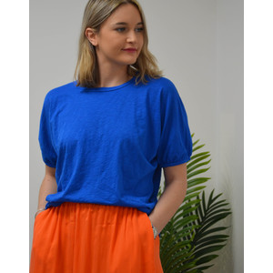 Louise Short Ballon Sleeve Tee Pacific