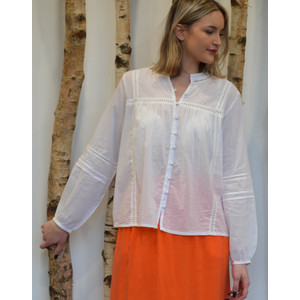 Yadira Ladder Detail Blouse White