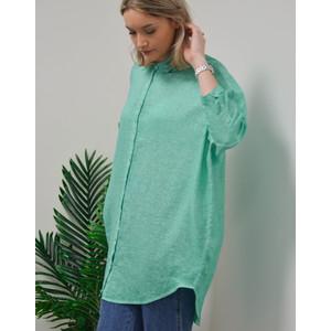120% Lino S/S Oversized Shirt Mint