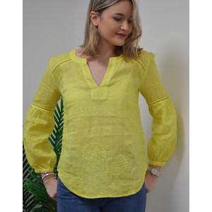 Paisley Emb L/S Top Lemonade