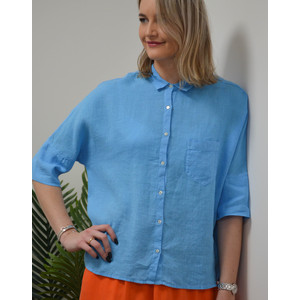 Short Sleeve 1 Pocket Boxy Shirt Hawaii