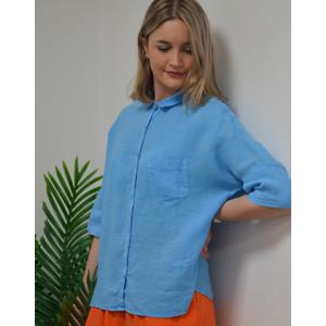 120% Lino Short Sleeve 1 Pocket Boxy Shirt Hawaii