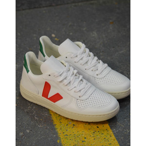 V-10 Leather Extra White Perkin Emerald