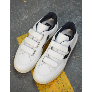 Velcro Leather Extra White/Black
