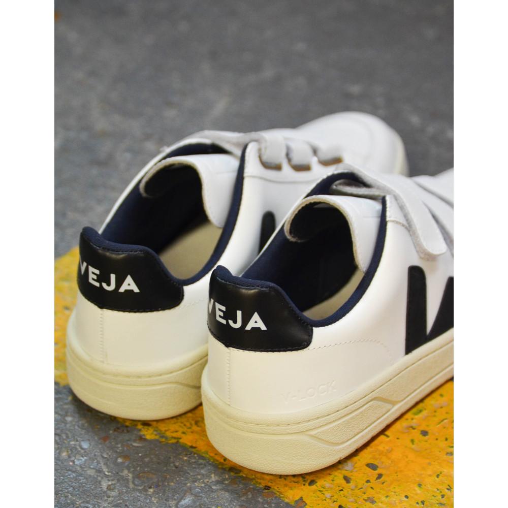 Veja Velcro Leather Extra White/Black