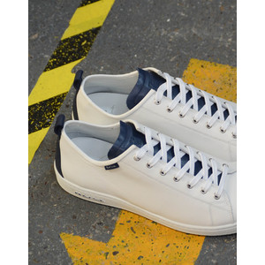 Paul Smith Shoes Miyata W/Blue Tongue Trainer White/Blue