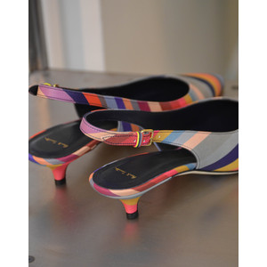 Paul Smith Shoes Ozella Swirl Low Heel Shoe Multicolour
