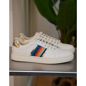Paul Smith Shoes Lapin Webbing Trainer White/Multi