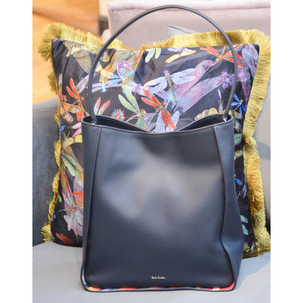 Paul Smith Accessories Swirl Trim Large Hobo Bag Navy/Multi