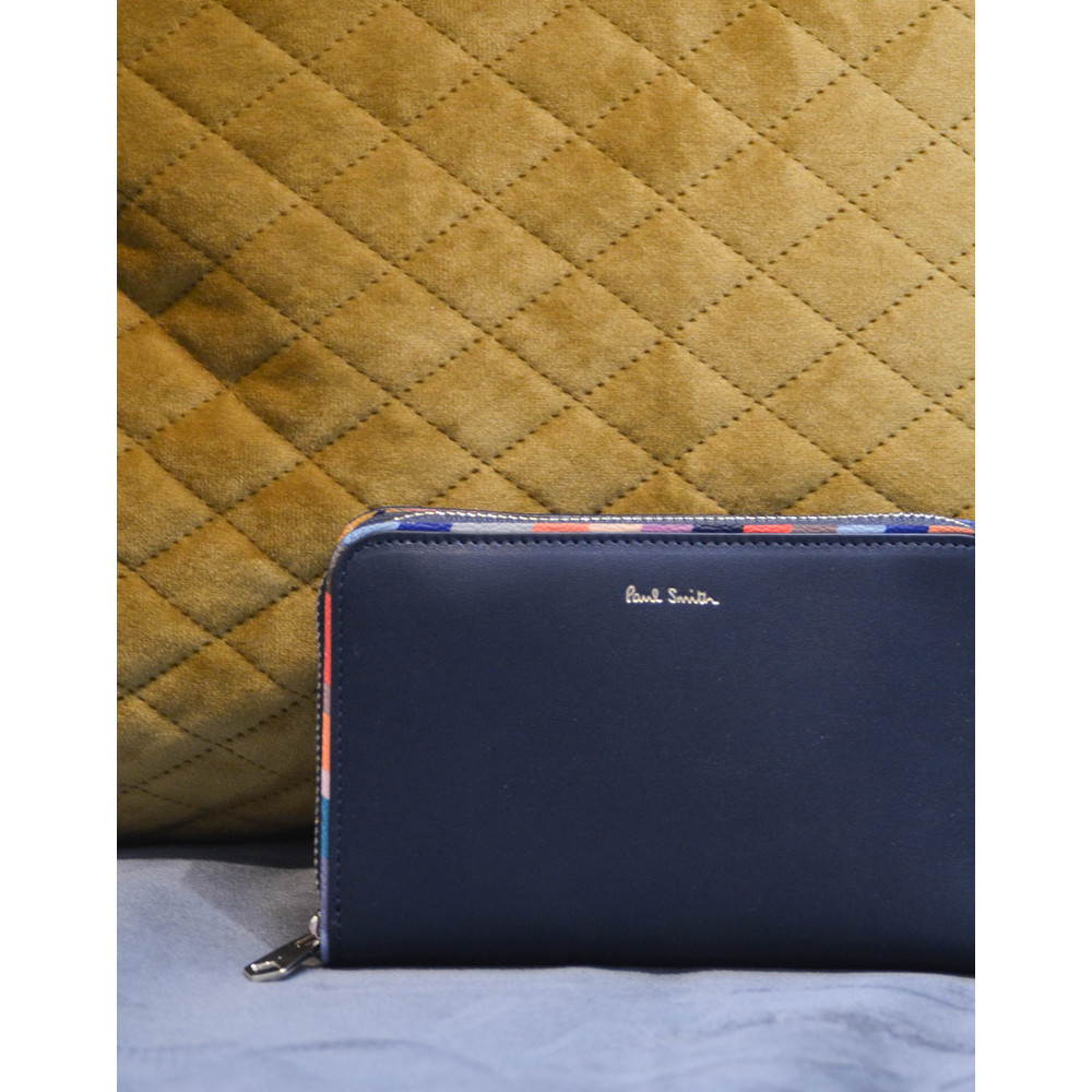 Paul Smith Accessories Swirl Trim Med Purse Navy/Multi