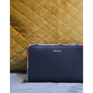Swirl Trim Med Purse Navy/Multi