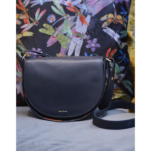 Satchel Swirl Trim Bag Navy