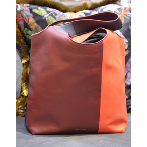 Paul Smith Accessories Hobo Colour Block Bag Brick/Navy