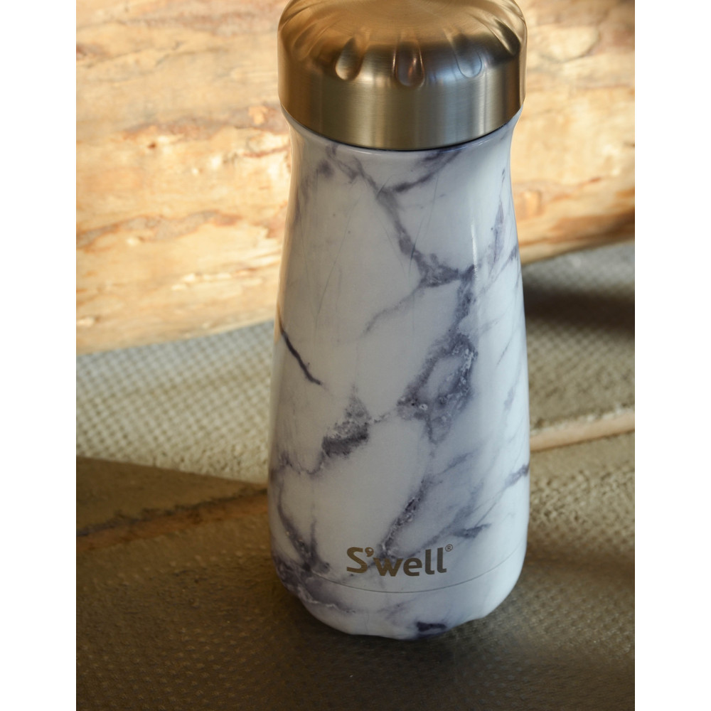 Swell Traveller Insulated Flask White Marble