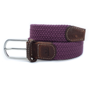 The Braided Belt Aubergine