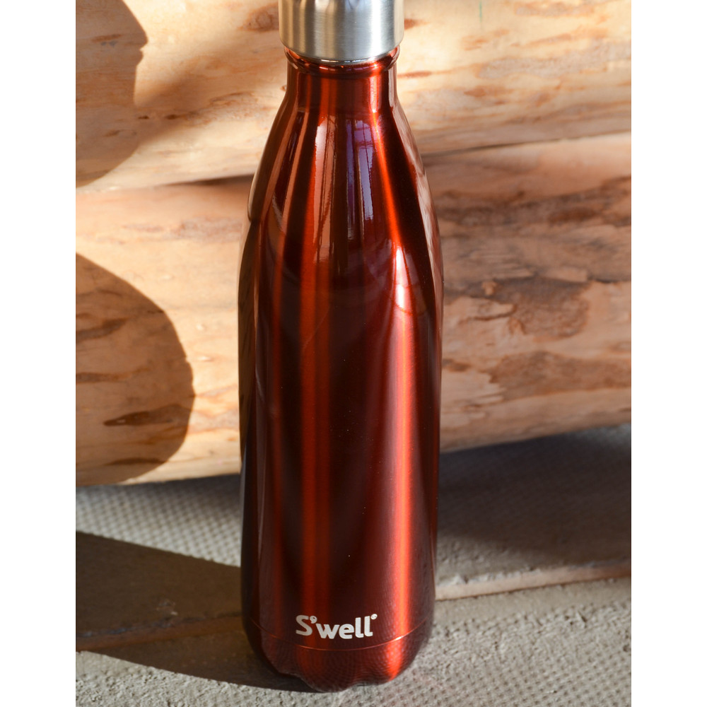Swell Shimmer Bottle Flask Insulated Rowboat Red