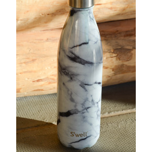 Elements Bottle Flask Insulated White Marble