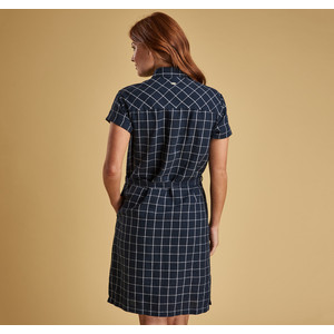 Barbour Lorne Dress Navy/White