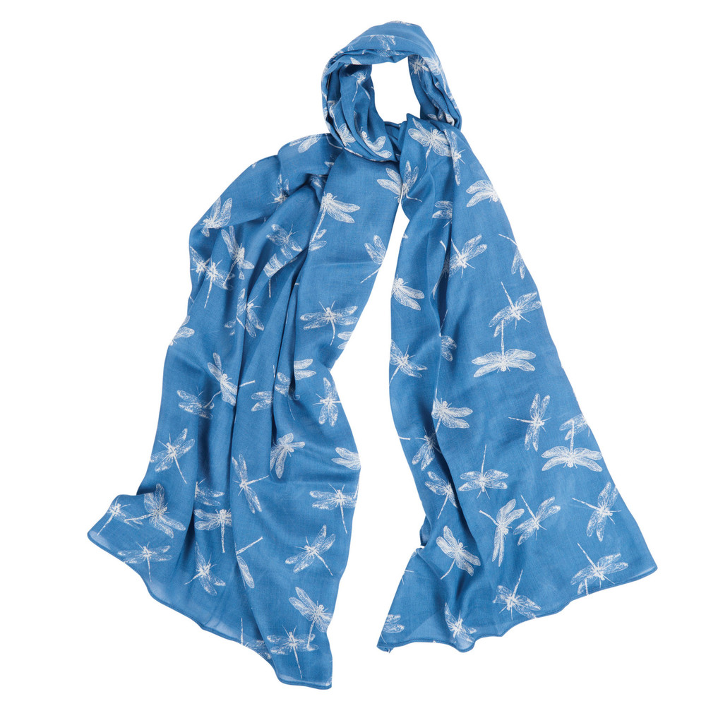 Barbour Dragonfly Wrap Blue Heather