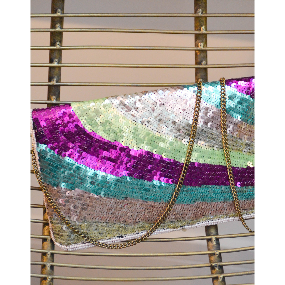 Becksondergaard Paradi Poetry Sequin Clutch Lilac Snow