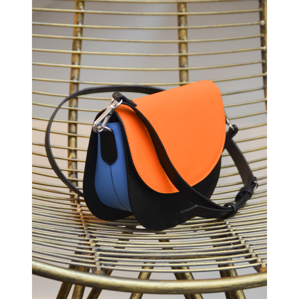 Beck Sondergaard Maci Cross Body Bag Black/Blue/Orange