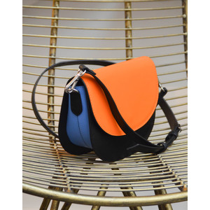Maci Cross Body Bag Black/Blue/Orange