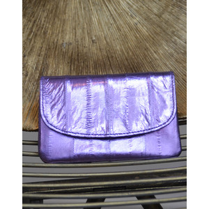 Handy Purse Metallic Violet Tulip