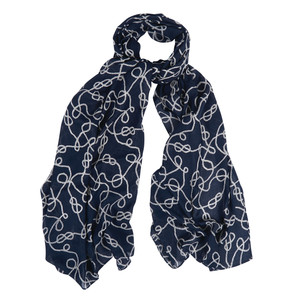 Rope Print Wrap Royal Blue