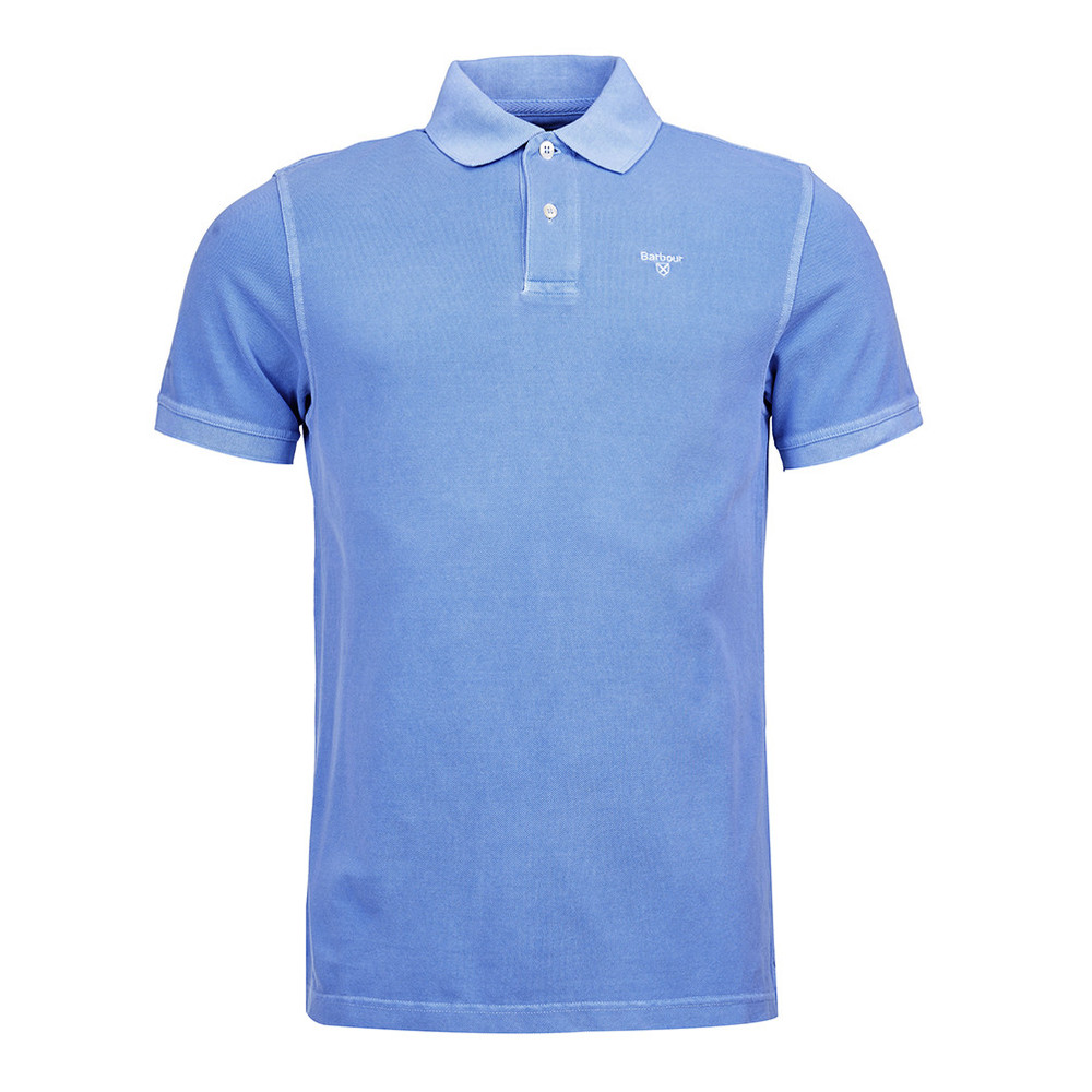 Barbour Washed Sports Polo Sky