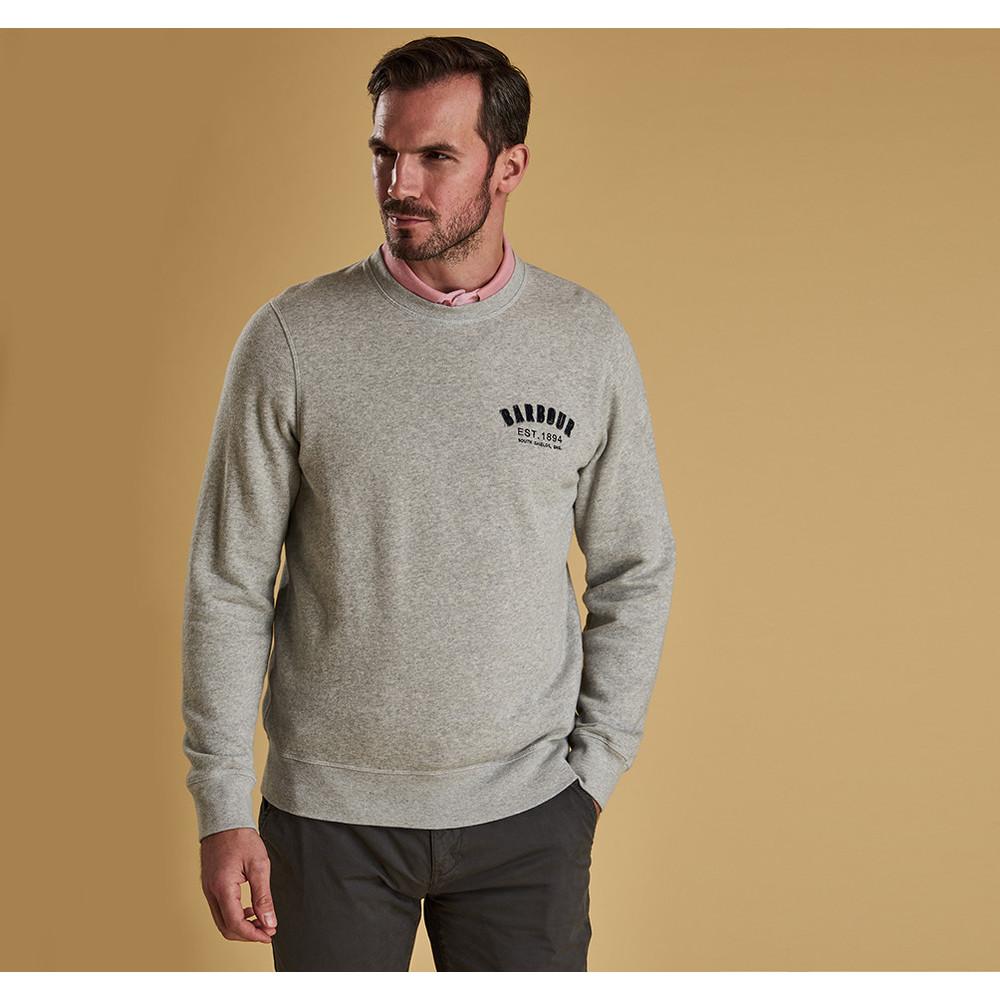 Barbour Preppy Crew Sweater Grey Marl