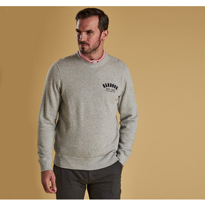 Preppy Crew Sweater Grey Marl