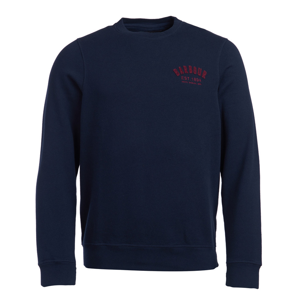 Barbour Preppy Crew Sweater Navy
