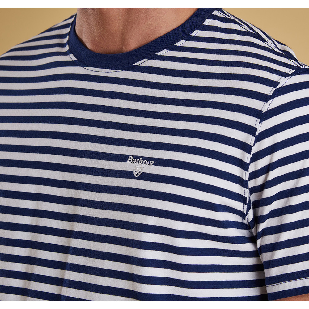 Barbour Delamere Stripe Tee-Tailored Inky Blue