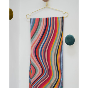 Long Swirl Silk Scarf Multicolour