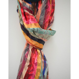 Paul Smith Accessories Devoire Swirl Scarf Multi