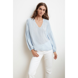 Yulia V Neck Top Billow