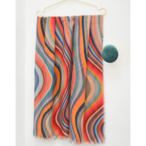 Swirl Scarf Black/Multi