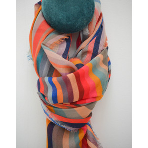 Paul Smith Accessories Swirl Scarf Black/Multi