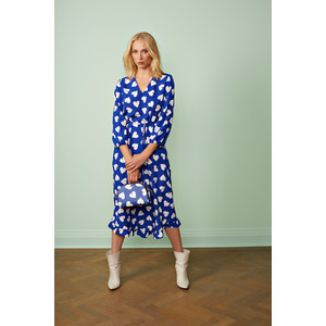 Seamus Heart Print Dress Blue