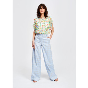 Saleisha Oversized Floral Top Off White