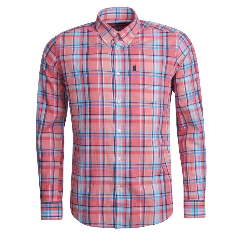 Barbour Oxford Check 3 Shirt-Tailored Rich Red
