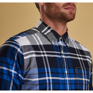 Barbour Highland 2 Shirt - Tailored Electric Blue