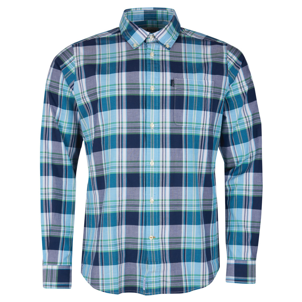 Barbour Madras 1 Shirt - Tailored Navy