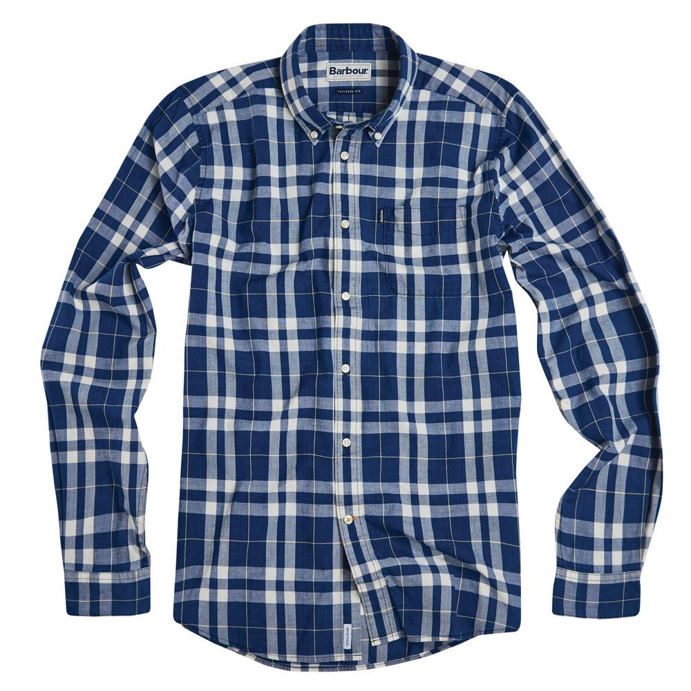 Barbour Indigo 4 Shirt-Tailored Fit Indigo/White