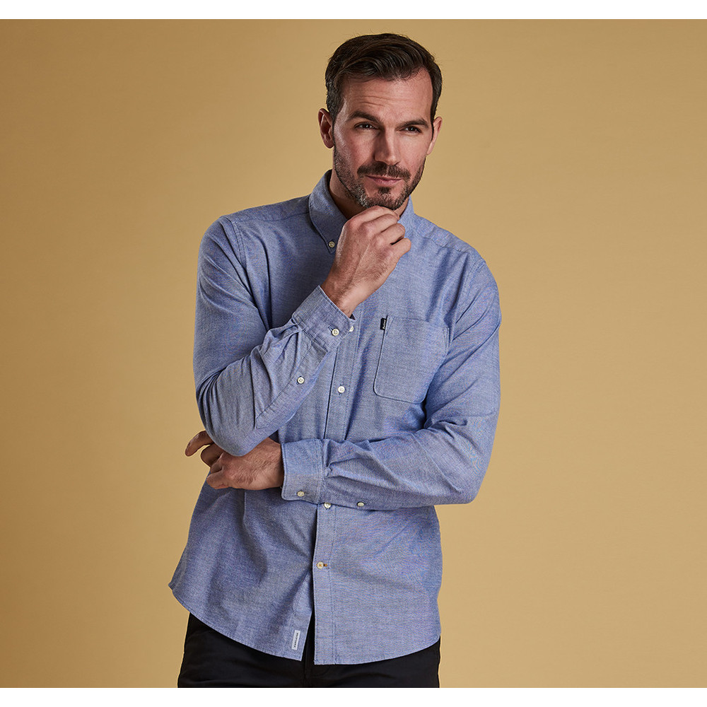 Barbour Oxford 2 Tailored Fit Shirt Navy