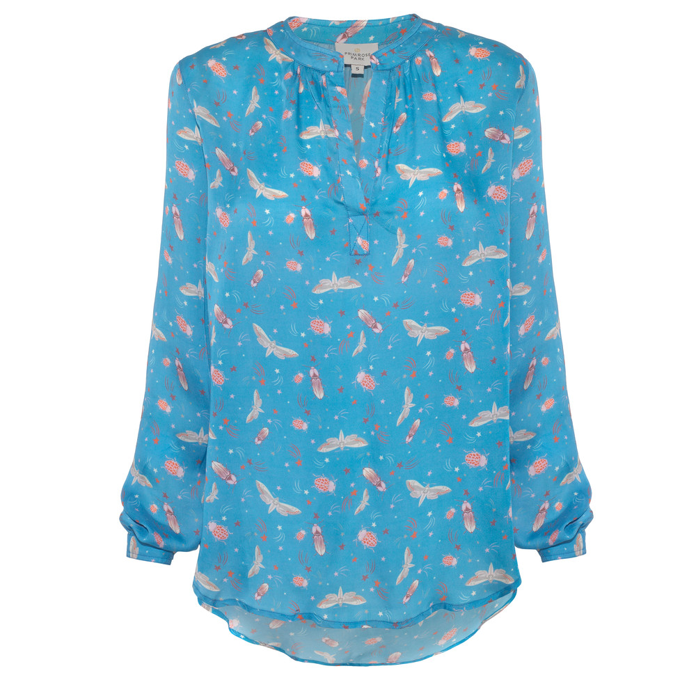 Primrose Park Sandy Starry Night Print Top Blue