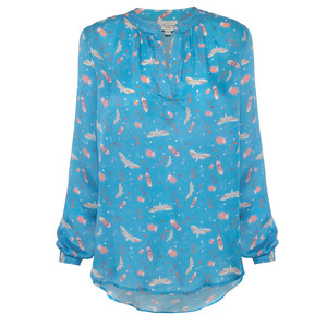 Sandy Starry Night Prt Top Blue